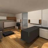 obývací pokoj vizualizace varianta 2
