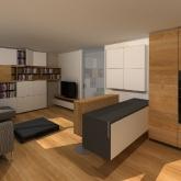 obývací pokoj vizualizace varianta 1